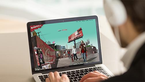 코카-콜라 'CokePLAY.com' Promotion Website